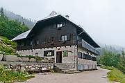 The Birders' Lodge (Ticarjev dom; 1620 meters elevation). Vrsic Pass in the Julian Alps is the highest pass in Slovenia. Triglav is the only National Park in Slovenia (Triglavski narodni park, TNP). The military-built Russian Road supplied the Isonzo front of World War I. Opened in late 1915, it was originally named after archduke Eugen of Austria-Hungary but in 2006 was renamed as Ruska cesta (Russian Road) to honor the prisoners of war who had been forced to build it. Russian Road connects Upper Carniola with the Trenta Valley, rising from Kranjska Gora in a series of 50 hairpin bends before descending into the Soca (Isonzo) Valley. Vrsic Pass (at elevation 1611 meters) in Italian is Passo della Moistrocca, in German is Werschetzpass, and in Slovene is Prelaz Vr?i?.