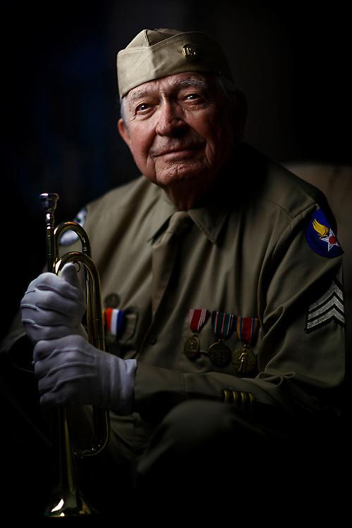 Army Air Corps veteran bugler, Robert McDonald.