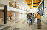 Staff and students tour Wisdom High School, April 28, 2017.