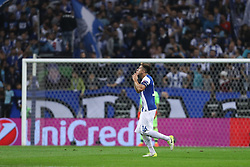 November 1, 2017 - Porto, Porto, Portugal - Porto's Mexican midfielder Hector Herrera celebrates after scoring a goal during the UEFA Champions League Group G match between FC Porto and Leipzig at Dragao Stadium on November 1, 2017 in Porto, Portugal. (Credit Image: © Dpi/NurPhoto via ZUMA Press)