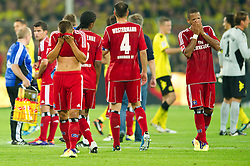 05.08.2011, Signal Iduna Park, Dortmund, GER, 1.FBL, Borussia Dortmund vs Hamburger SV, im Bild Robert Tesche (Hamburg #13) und Änis / Aenis Ben-Hatira (Hamburg #32) enttaeuscht nach der Niederlage // during during the 1.FBL, Borussia Dortmund vs Hamburger SV on 2011/08/05, Signal Iduna Park, Dortmund, Germany. EXPA Pictures © 2011, PhotoCredit: EXPA/ nph/  Kurth       ****** out of GER / CRO  / BEL ******