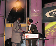Shaquille O' Neal and Kobe Bryant.Cedars-Sinai 16th annual Sports Spectacular, honoring .NBA superstar Shaquille O'Neal, and ice-skating champion Katarina Witt. To Benefit The Medical Genetics-Birth Defects Center..Century Plaza Hotel.Los Angeles, CA.July 08, 2001.Photo by CelebrityVibe.com...