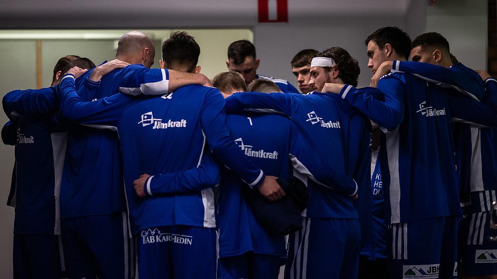ÖSTERSUND 20210924<br /> Peptalk innan fredagens match i Basketligan mellan Jämtland Basket och Nässjö Basket i Östersunds Sporthall<br /> <br /> Foto: Per Danielsson/Projekt.P