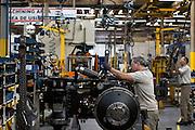 Porto Alegre_RS, Brasil.<br /> <br /> Linha de producao de tratores Massey Fergson na fabrica em Porto Alegre, Rio Grande do Sul.<br /> <br /> Tractors production line Massey Fergson in the factory in Porto Alegre, Rio Grande do Sul.<br /> <br /> Foto: RODRIGO LIMA / NITRO