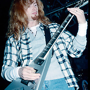 ALLENTOWN JANUARY 18: Dave Mustaine of Megadeth performs on January 18, 1993 in Allentown, Pennsylvania. ©Lisa Lake