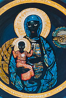"""The Madonna and Child of Soweto"", mostly referred to as ""The Black Madonna"", depicting a black Virgin Mary holding the Child Jesus (also black), Regina Mundi Church ( is the largest Roman Catholic church in South Africa), Soweto (South Western townships), Johannesburg, South Africa."