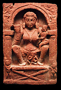 Sandstone Mathura sculpture of the Kushan Period, circa AD 1-300, Indian. Depicts a Yaksha or nature spirit in Hindu religion. BC