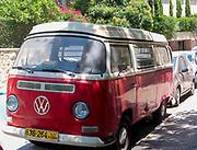 Vintage Volkswagen camper, Photographed in Balfour Street, Jerusalem