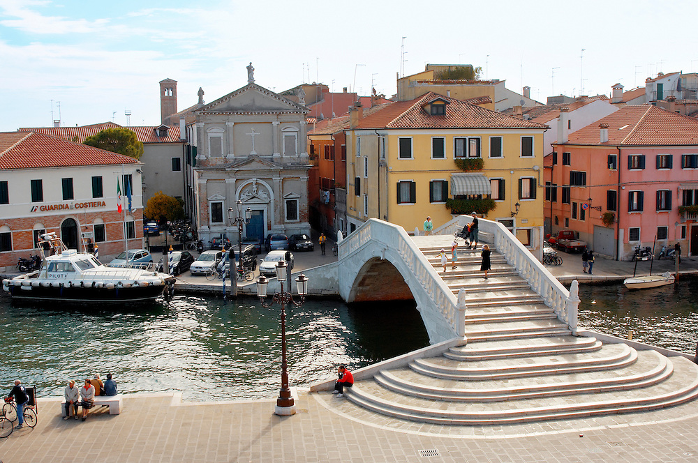 Ponte Dal Vigo - Riva Vena - Chioggia, Venice Italy .<br /> <br /> Visit our ITALY HISTORIC PLACES PHOTO COLLECTION for more   photos of Italy to download or buy as prints https://funkystock.photoshelter.com/gallery-collection/2b-Pictures-Images-of-Italy-Photos-of-Italian-Historic-Landmark-Sites/C0000qxA2zGFjd_k