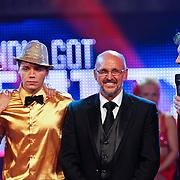 NLD/Hilversum/20100910 - Finale Holland's got Talent 2010, finalisten Martin Hurkens en  Elastic Double en Robert ten Brink