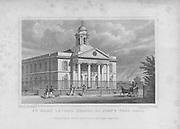 St Mary Le-Bone Chapel, St John's Wood Road, engraving 'Metropolitan Improvements, or London in the Nineteenth Century', England, UK 1828