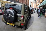 Chelsea Truck Company 4x4 vehicle in Knightsbridge, London, United Kingdom.