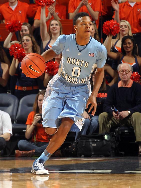 North Carolina guard Nate Britt during an NCAA basketball game Monday Jan. 20, 2014 in Charlottesville, VA. Virginia defeated North Carolina 76-61.