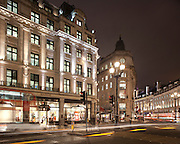 Regent street london. dusk. night. lighting. acdc. led.