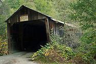 Old Oregon Covered Wooden Bridge, near North San Juan, California