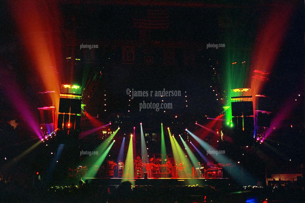 The Grateful Dead Live at The Civic Center, Hartford Connecticut 19 March 1990. Wide Lighting Design Image Capture.
