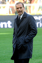 Genoa (Italy): Italian Championship match Sampdoria vs Juventus. 19 Nov 2017 Pictured: Massimiliano Allegri head coach of Juventus FC looks on during the Italian Championship match UC Sampdoria vs Juventus FC player at Luigi Ferraris Stadium in Genoa, on November 19, 2017. Photo credit: Massimo Cebrelli / MEGA TheMegaAgency.com +1 888 505 6342