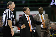 WACO, TX - JANUARY 5: Oklahoma State Cowboys head coach Travis Ford has words with an official against the Baylor Bears on January 5, 2016 at the Ferrell Center in Waco, Texas.  (Photo by Cooper Neill/Getty Images) *** Local Caption *** Travis Ford