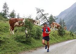 25.07.2015, Dorfertal, Kals, AUT, Grossglockner Ultra Trail, 50 km Berglauf, im Bild Jim Mann (GBR, führender bei Rudolfshütte) // 1st placed Jim Mann of United Kingdom during the Grossglockner Ultra Trail 50 km Trail Run from Kals arround the Grossglockner to Kaprun. Kals, Austria on 2015/07/25. EXPA Pictures © 2015, PhotoCredit: EXPA/ Stringer