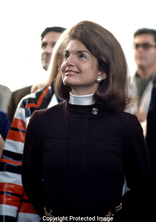 Jackie Kennedy visits Expo in Montreal, Canda in October 1967,..Photo by Dennis Brack BSB 18