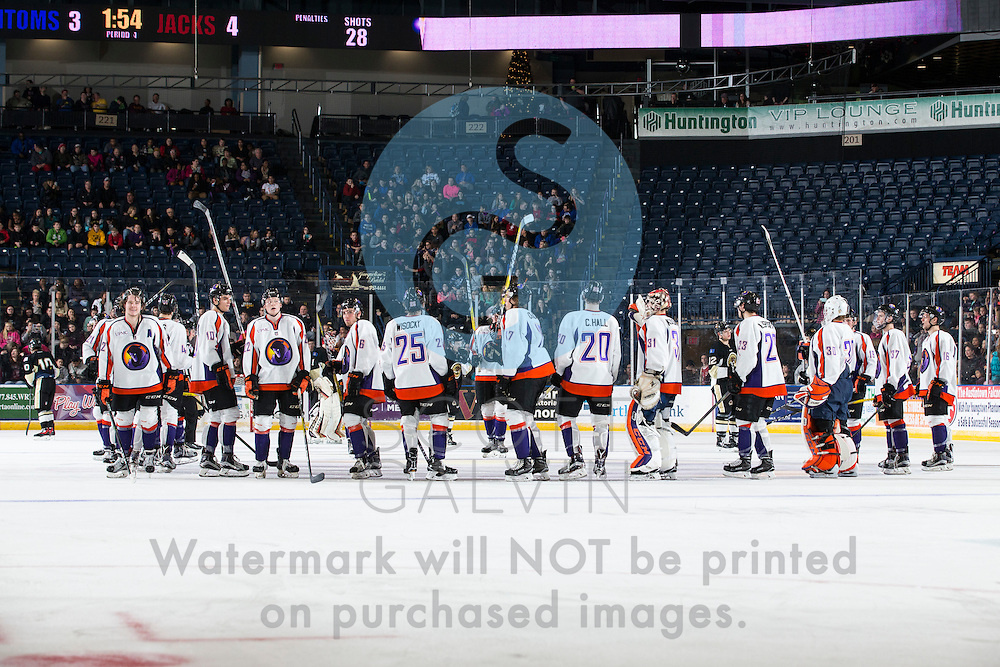 The Youngstown Phantoms vs. the Muskegon Lumberjacks after the game at the Covelli Centre on Dec. 8, 2016. The Phantoms hosted the annual School Days game for students in schools from around the area. The Phantoms lost 4-3 in overtime.