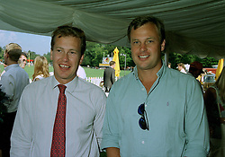 Left to right, brothers LORD IVAR MOUNTBATTEN and the MARQUESS OF MILFORD HAVEN, at a polo match in Sussex on 20th July 1997.MAM 124