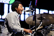 """Photos of the band Soulive performing at City Parks Foundation's SummerStage gala event, """"The Music of Jimi Hendrix"""", at Rumsey Playfield in Central Park, NYC. June 5, 2012. Copyright © 2012 Matthew Eisman. All Rights Reserved."""