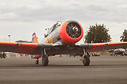 Harvard taxiing after flight at Warbirds Over the West.