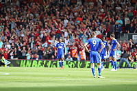 Football - 2018 / 2019 Premier League - AFC Bournemouth vs. Leicester City<br /> <br /> An unhappy return for Jamie Vardy of Leicester City at the Vitality Stadium (Dean Court) Bournemouth <br /> <br /> COLORSPORT/SHAUN BOGGUST