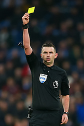 Referee Michael Oliver during the Premier League match at Turf Moor, Burnley