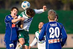 Marko Vinkovic of Drava vs Ferreira F. De Abreu of Olimpija at 18th Round of PrvaLiga football match between NK Olimpija and NK Labod Drava, on November 21, 2009, in ZAK, Ljubljana, Slovenia. Olimpija defeated Drava 3:0. (Photo by Vid Ponikvar / Sportida)