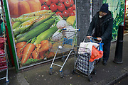 Scene outside a fruit and vegetable market in Shadwell, East London, England, UK. This area is very much at the heart of the Asian and primarily Bangladeshi community in the multicultural area close to Whitechapel. (photo by Mike Kemp/In Pictures via Getty Images)
