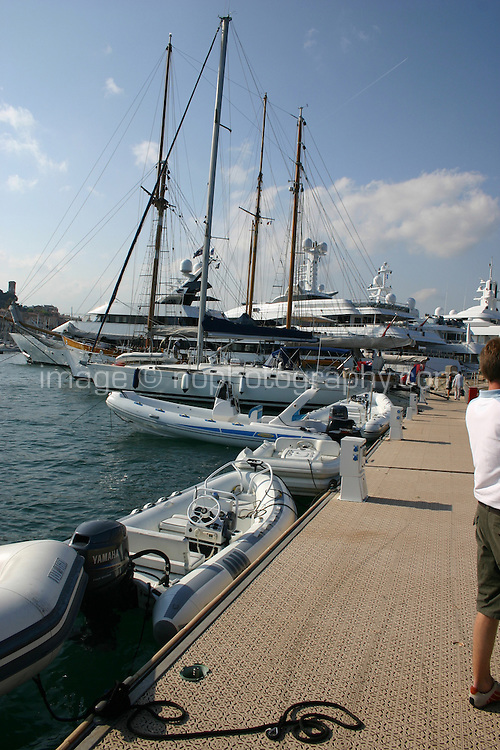 Boats moored in Cannes South of France