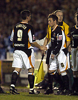 Photo: Olly Greenwood.<br />Colchester United v Hull City. Coca Cola Championship. 28/11/2006. Hull's Nick Forster comes off for NIck Barmby