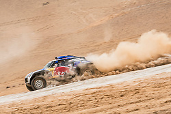Carlos Sainz (ESP) of X-raid MINI JCW Team races during stage 04 of Rally Dakar 2019 from Arequipa to o Tacna, Peru on January 10, 2019 // Marcelo Maragni/Red Bull Content Pool // AP-1Y39E7UHH1W11 // Usage for editorial use only // Please go to www.redbullcontentpool.com for further information. //