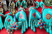 Turquoise souvenirs for sale in Kathmandu, Nepal