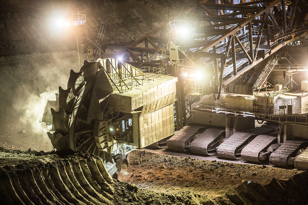 Elsdorf, DEU, 08.07.2018<br /> <br /> Der von der RWE Power AG betriebene Braunkohletagebau Hambach erstreckt sich im Rheinischen Braunkohlerevier zwischen dem Rhein-Erft-Kreis und dem Kreis Dueren.<br /> <br /> The Hambach opencast lignite mine operated by RWE Power AG extends in the Rhenish lignite mining region between the Rhine-Erft district and the Dueren district in Germany´s most western part.<br /> <br /> Foto: Bernd Lauter/berndlauter.com