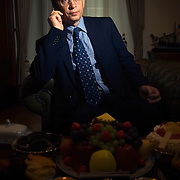 Portrait of Russian billionaire oligarch Vladimir Evtoushenkov, chairman of the group Sistema, at his office in central Moscow. ..Photographed 15 November by Justin Jin.
