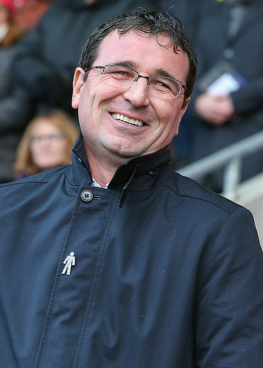 Blackpool manager Gary Bowyer<br /> <br /> Photographer Alex Dodd/CameraSport<br /> <br /> The EFL Sky Bet League One - Fleetwood Town v Blackpool - Saturday 25th November 2017 - Highbury Stadium - Fleetwood<br /> <br /> World Copyright © 2017 CameraSport. All rights reserved. 43 Linden Ave. Countesthorpe. Leicester. England. LE8 5PG - Tel: +44 (0) 116 277 4147 - admin@camerasport.com - www.camerasport.com