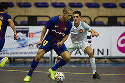 November 22, 2017 - Pescara, PE, Italy - Carlos Vagner Gularte Filho of FC Barcelona in action during the Elite Round of UEFA Futsal Cup 17/18 match between FC Barcelona and ZVV 'T Knoppount at Giovanni Paolo II arena on November 22, 2017 in Pescara, Italy. (Credit Image: © Danilo Di Giovanni/NurPhoto via ZUMA Press)