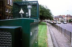 Air monitoring equipment at roadside; Haringey, North London UK