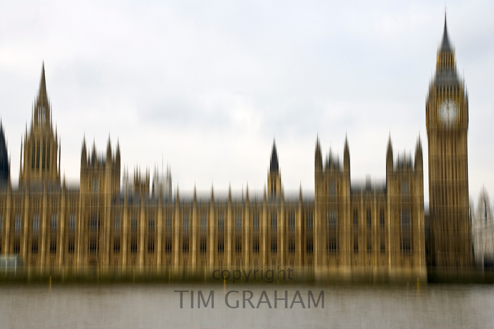 The Houses of Parliament, also known as The Palace of Westminster, River Thames,  London, UK