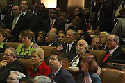 Audience at the Swearing-in of the Honorable David A. Patterson at the 55th Governor of New York  at The New York State Capitol in the Assembly Chambers on March 17, 2008