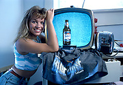 Pamela Anderson on Labatt's Blue beer TV Commercial shoot, October 1988