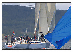 The third days racing at the Bell Lawrie Yachting Series in Tarbert Loch Fyne ..Perfect conditions finally arrived for competitors on the three race courses...Swan45 Fever GBR945R.