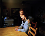 Adam Johnson, 35, and his partner Sarah Pollock at their home in San Antonio, Texas in January 2020. Johnson was teaching an Anthropology class at the University of North Carolina Charlotte on April 30, 2019 when a former student shot and killed two students. Since then, Johnson and Pollock have moved to San Antonio, Texas where Johnson is studying for his Ph.D. at the University of Texas at San Antonio and Pollock is a faculty member at Texas A&M University San Antonio.