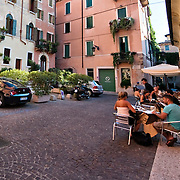 Restaurants, bars, eating out and shops in Verona.Verona is a city in Veneton, Northern Italy home to approx. 265,000 inhabitants and one of the seven provincial capitals of the region. Verona has Roman origins and  derived importance from being at the intersection of many roads. It is world famous for the Arena and its Opera....***Agreed Fee's Apply To All Image Use***.Marco Secchi /Xianpix. tel +44 (0) 207 1939846. e-mail ms@msecchi.com .www.marcosecchi.com