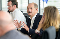 30 AUG 2020, BERLIN/GERMANY:<br /> Olaf Scholz, SPD, Budnesfinanzminister, Paul-Loebe-Haus, Deutscher Bundestag<br /> IMAGE: 20200830-01-114