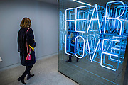 Fear Love - The Design Museum has moved to Kensington High Street from its former home as an established London landmark on the banks of the river Thames.  The new museum will be devoted to contemporary design and architecture, an international showcase for the many design skills at which Britain excels and a creative centre, promoting innovation and nurturing the next generation of design talent. His Royal Highness toured the museum to view the transformation of a modernist building from the 1960s, which was the former Commonwealth Institute.  17  November 2016, London.