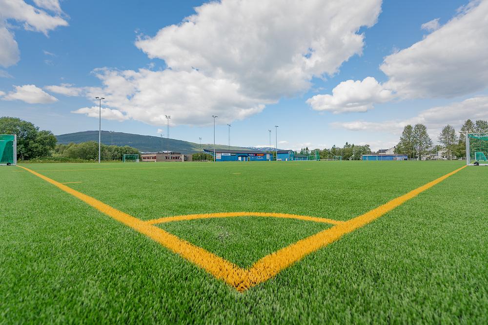 Fauske stadion har kunstgressbane og er hjemmebane for Fauske/Sprint.